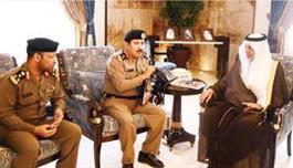 الفيصل خلال استقباله اللواء السواط