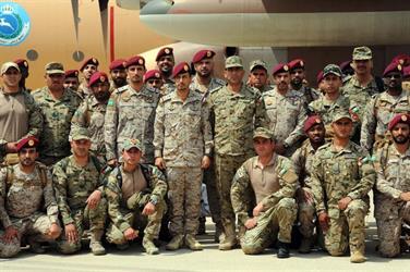 القوات البحرية الأردنية الخاصة المشاركة في مناورات (عبدالله - 5) تصل إلى الأسطول الشرقي بالجبيل