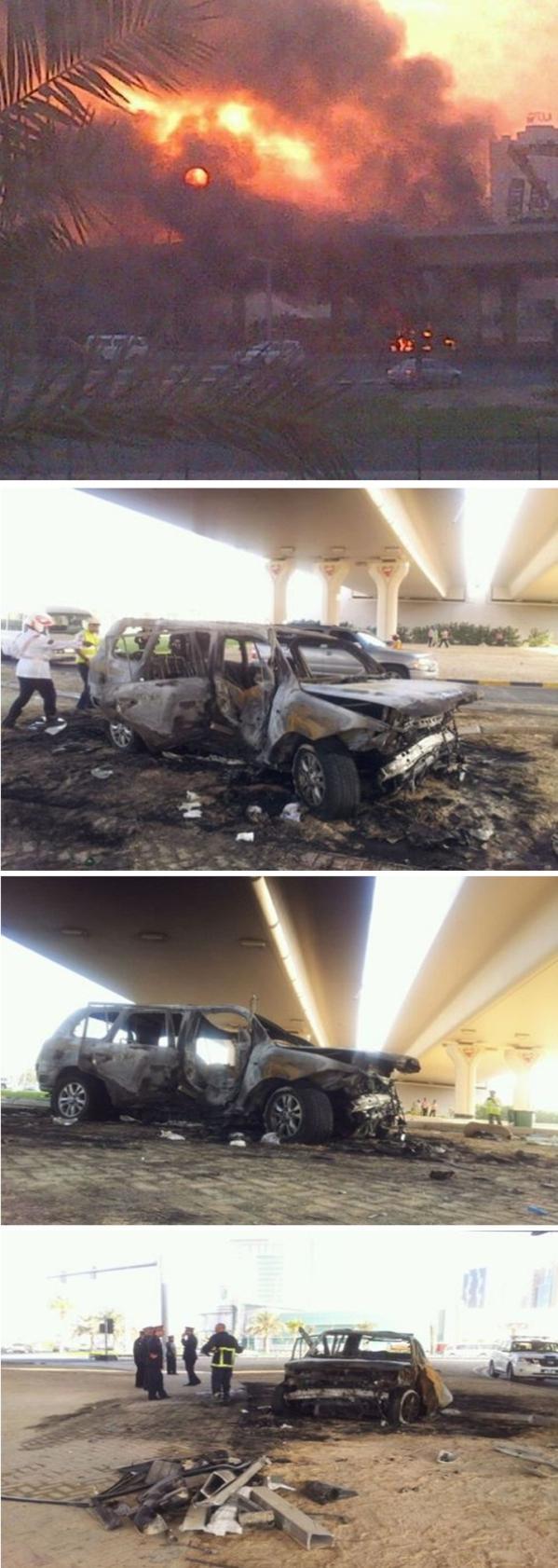 تفحم سعودي داخل سيارته البحرين