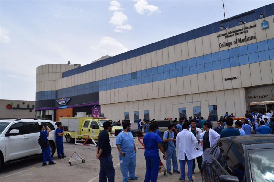 الدفاع المدني يباشر حادث تسرب غاز بجامعة الإمام بالرياض