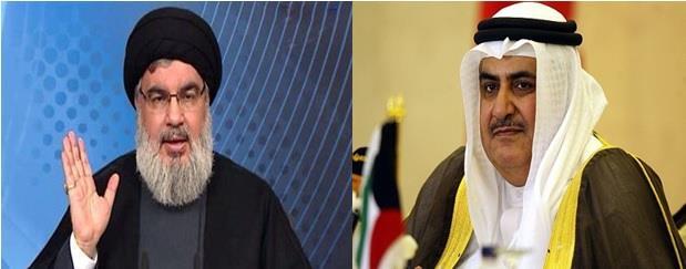 """وزير خارجية البحرين يرد على تهديدات """"حزب الله"""" بتحميل حكومة لبنان المسؤولية ويصف """"نصرالله"""" بـ """"المعتوه"""""""