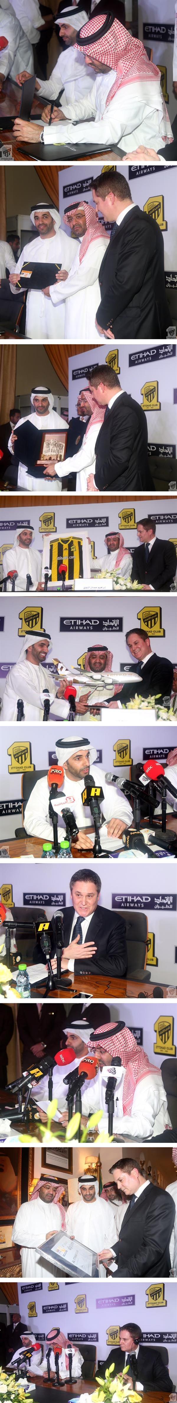 الاتحاد للطيران ونادي الاتحاد السعودي لكرة القدم يوقعان على اتفاقية شراكة في جدة