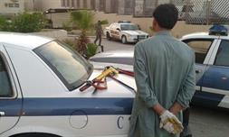 القبض علي اللص متلبسا في الموقع وبحوزته أدوات الجريمة