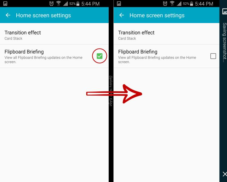 disable galaxy note 4 briefing