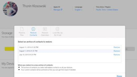 icloud recover contacts