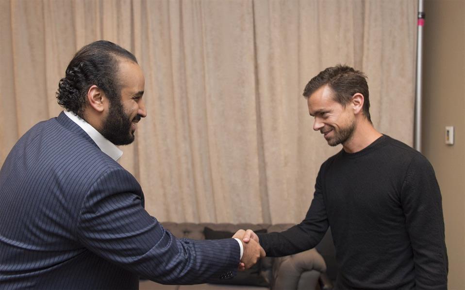 محمد بن سلمان يلتقي في الرئيس التنفيذي لشركة تويتر