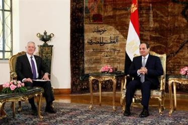 الرئيس المصري ووزير الدفاع الأمريكي