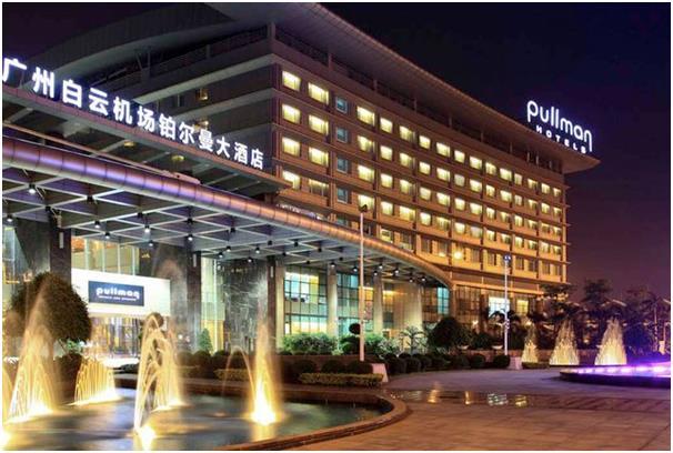 """فندق """"بولمان"""" ويقع مقابل البوابة رقم 13 لصالة المغادرين في مطار قوانغتشو باييون الدولي."""