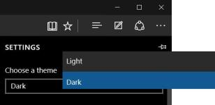 dark theme in edge browser 1