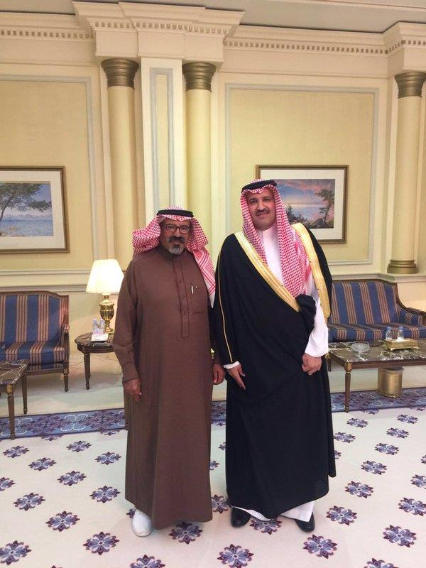 الأمير فيصل بن سلمان يستقبل الرحالة ناصر القحطاني