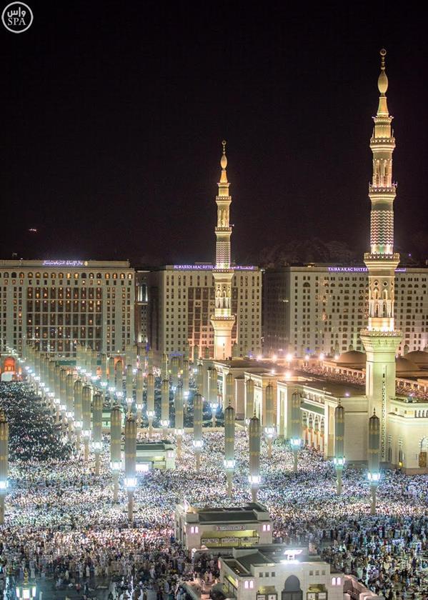 أكثر من مليون مصل يشهدون ختم القرآن الكريم في المسجد النبوي