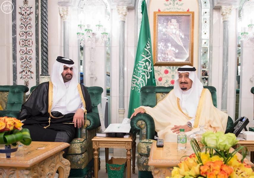 خادم الحرمين الشريفين يستقبل نائب أمير دولة قطر