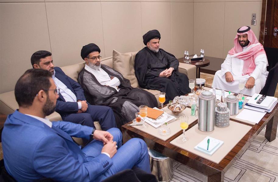شاهد.. نائب خادم الحرمين يلتقي مقتدى الصدر في جدة