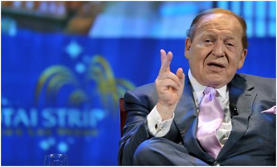 """""""شيلدون أديلسون"""" الرئيس التنفيذي لشركة """"لاس فيجاس ساندز""""، وخسر نحو 5,2 مليار دولار من ثروته، إضافة إلى غلق أحد أكبر الكازينوها"""