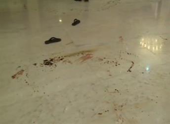 بالفيديو.. لقطات صادمة من داخل مسرح جريمة التوأم الإرهابي تُظهر آثار دماء والديهما وشقيقهما