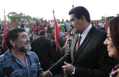 """مارادونا يقول إنه """"جندي"""" لرئيس فنزويلا مادورو"""