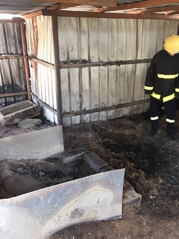 مصرع مواطن يبلغ من العمر 100 عام في حريق بغرفة مبنية من الزنك في يدمة