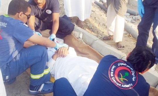 مصابين بينهم أطفال حادثين بمكة