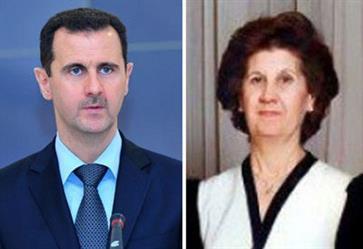 وفاة أنيسة مخلوف والدة بشار الأسد