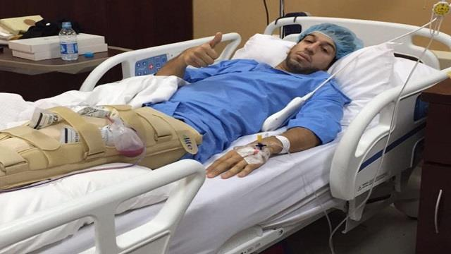 لاعب هجر: أجريت عملية الرباط الصليبي بنجاح ( صورة )