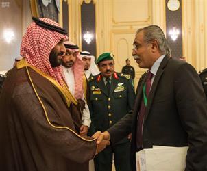نائب خادم الحرمين يستقبل أعضاء مجلس النواب اليمني المؤيدين للحكومة الشرعية