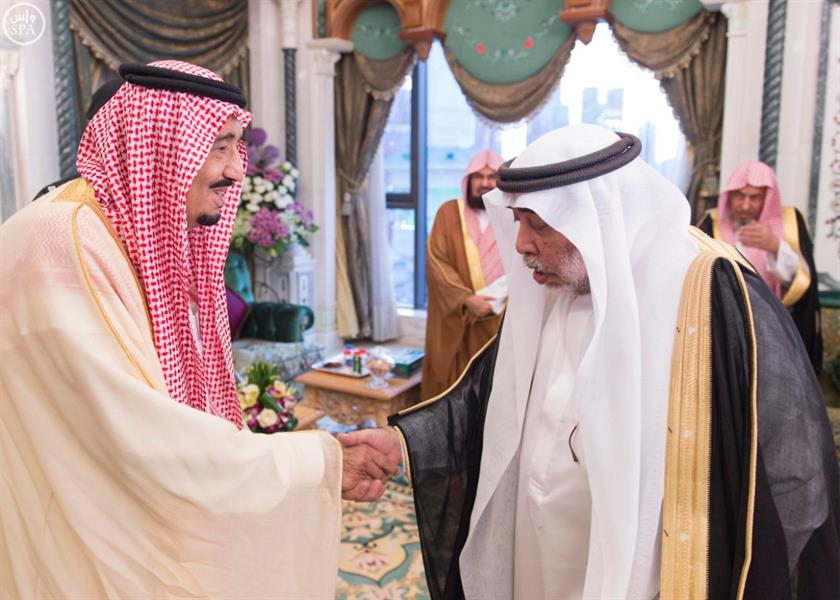 خادم الحرمين الشريفين يصل إلى مكة المكرمة