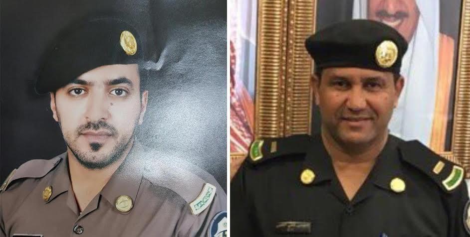 الشهيدان رئيس الرقباء موسى علي القبي والجندي أول نواف محماس العتيبي..