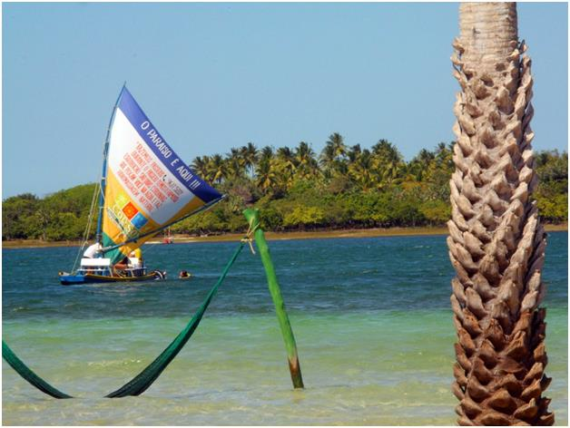 شاطىء Jericoacoara في البرازيل، ذو الرمال البيضاء، وهو واحد من أجمل الشواطىء على مستوى العالم.