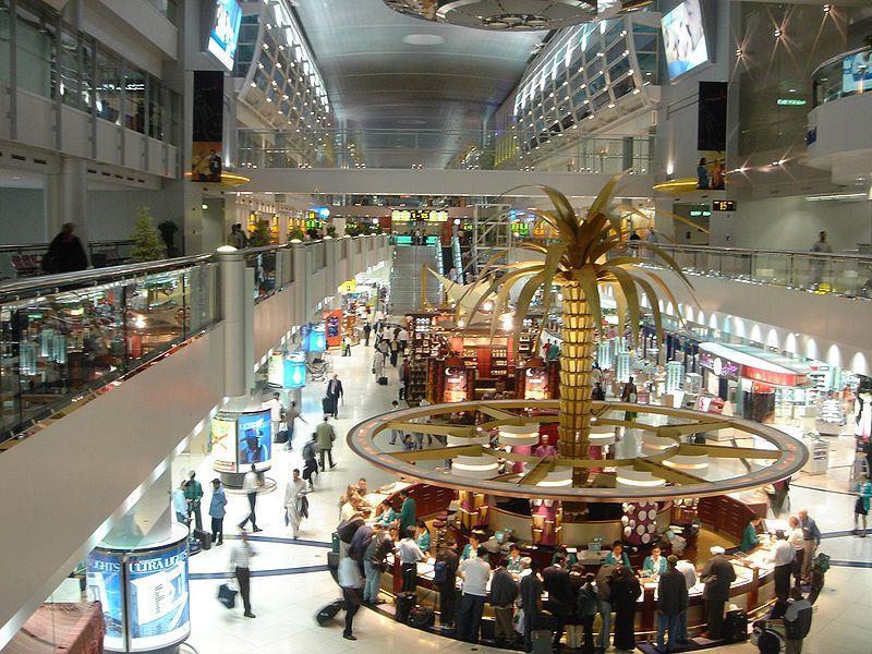 وتبعه مطار دبي الدولي بدولة الإمارات العربية المتحدة في المركز الخامس