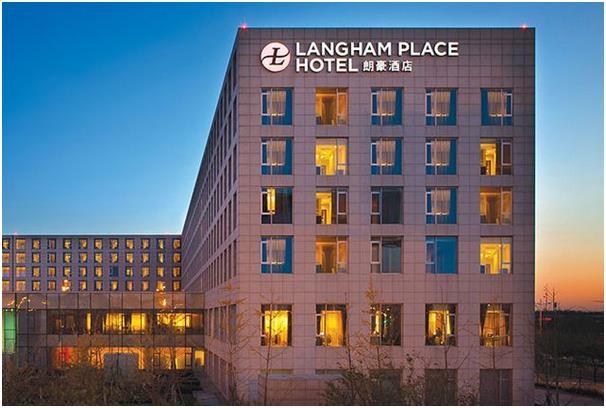 """فندق """"لانغهام"""" """"Langham"""" في مطار بكين."""