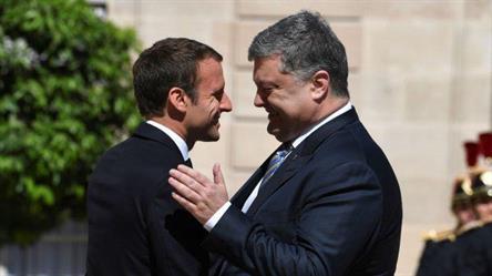 ماكرون يؤكد التزام بلاده بسيادة أوكرانيا ويرفض ضم روسيا للقرم