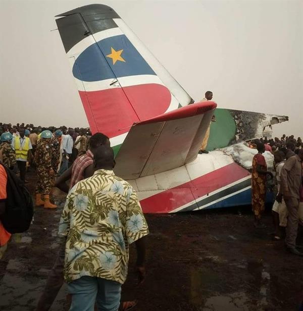 تحطم طائرة ركاب تابعة لجنوب السودان جنوبي البلاد