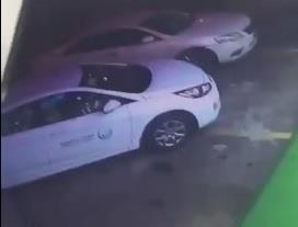 بالفيديو.. لص يهرب بسيارة تتبع شركة المياه بعد تركها في وضع التشغيل بالرياض