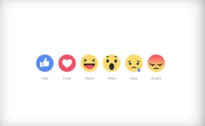 facebook reactions button