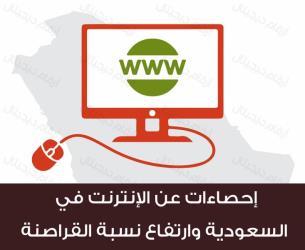 توبك انفوجرافيك احصاءات عن انترنت السعودية ونسبة القرصنة