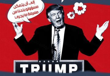 توبك إنفوجرافيك  دونالد ترامب والمسلمين