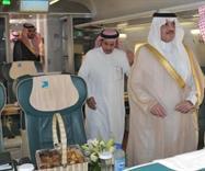 الأمير سعود بن نايف يستقل القطار إلى الهفوف
