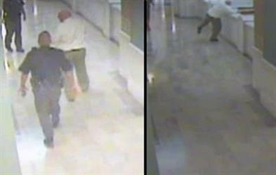 بالفيديو.. رجل اغتصب طفلة وأحرق عائلتها ينتحر في المحكمة