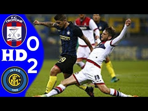 كروتوني (0 - 2) انتر ميلان الدوري الايطالي