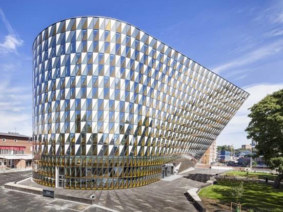 """""""أولا ميديكا"""" أو """"Aula Medica """" وهو مدرج جامعة """"معهد كارولينسكا"""" الطبي بمدينة """"ستوكهولم"""" في السويد"""