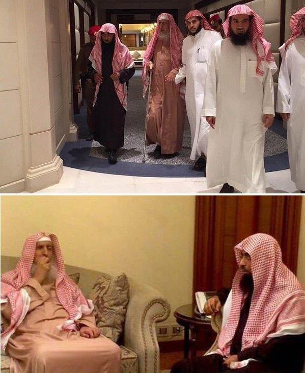 سماحة الشيخ عبدالعزيز آل الشيخ مفتي عام المملكة يزور الشيخ صلاح البدير