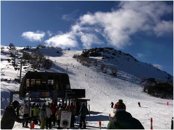 """يعد منتجع """"Perisher""""في أستراليا، أكبر منتجع للتزلج في نصف الكرة الجنوبي، إذ يحتوي على أكثر من 3 آلاف فدان من الأراضي التي يمكن"""