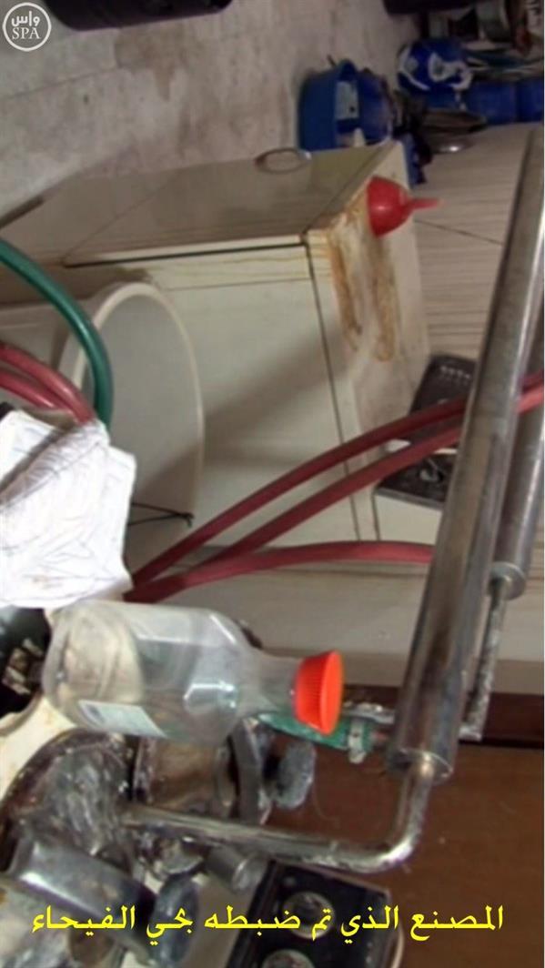 """""""الداخلية"""": ضبط معمل متكامل داخل منزل بحي الفيحاء بالرياض لتحضير المواد المتفجرة وصناعة الأحزمة الناسفة (صور وفيديو)"""