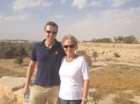 بنيلوبي مع ابنها ماثيو