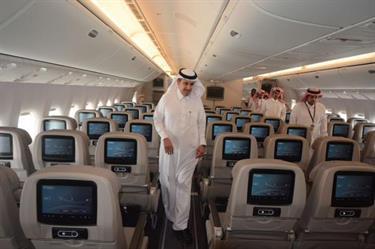 الخطوط السعودية تضم طائرة بوينج (b777-300er) لأسطولها الجوي