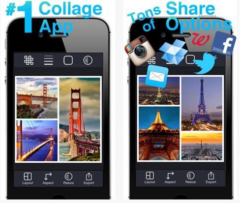 تطبيق Pic Stitch المجاني لتحرير ملفات الصور على الآيفون.