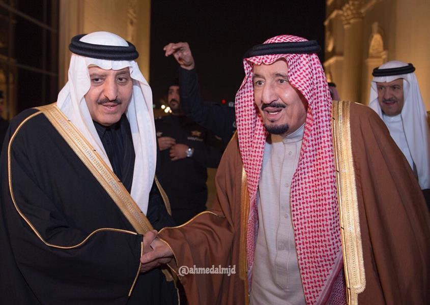 بالصور.. خادم الحرمين يشرّف حفل زواج ابني الأمير أحمد بن عبدالعزيز...