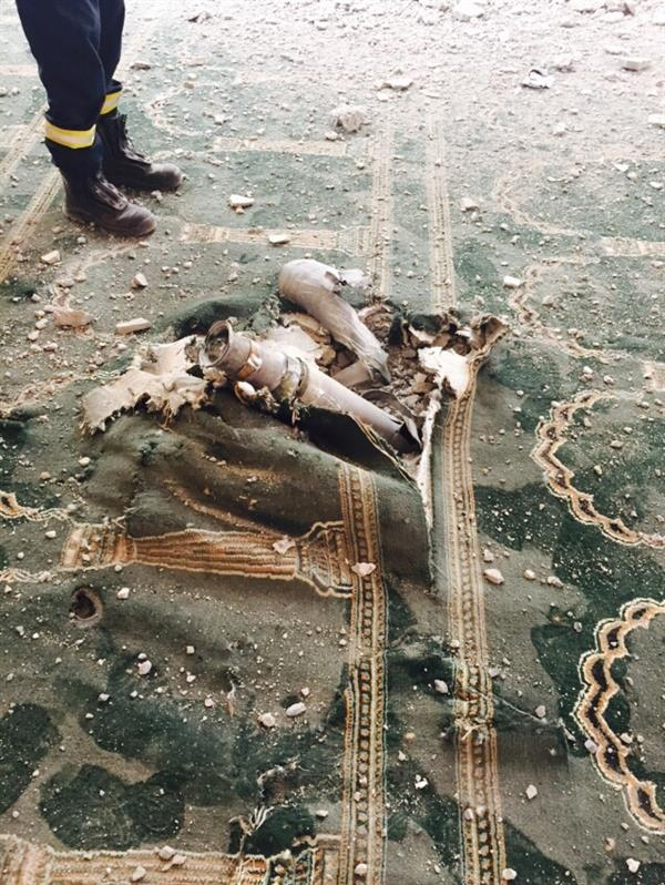 قذيفة الأراضي اليمنية تسقط مسجد