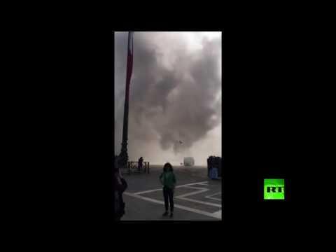 قنابل الدخان تغطي سماء مدينة البندقية الإيطالية