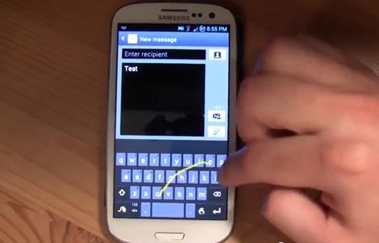 """تعاني جوالات """"آيفون"""" بطء في كتابة الرسائل النصية، وهو ما ينصح الموقع بتجنبه باستخدام تطبيق يضاهي تطبيق """"Swipe"""" في سرعته, إذ يت"""